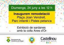Inauguració Plaça Joan Vendrell, Parc Infantil i Pistes petanca